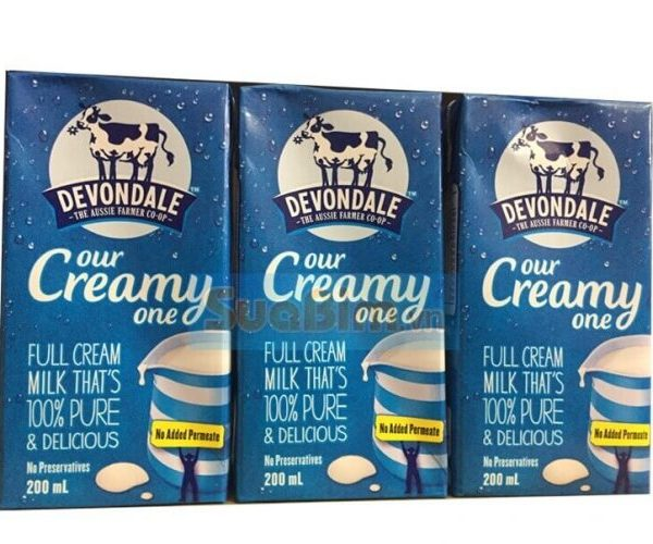 Sữa devondale full cream 200ml