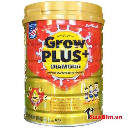Sữa Grow Plus diamond 1+ 850g